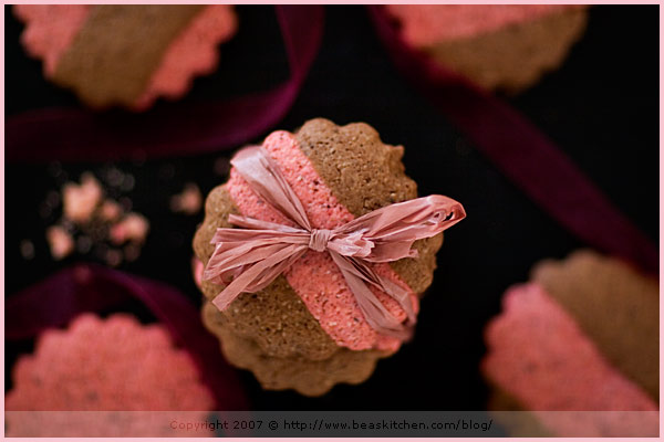 chocolate biscuits roses reims pink