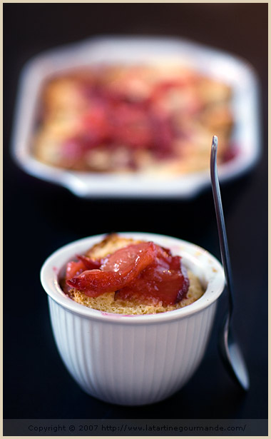 plum brioche pudding