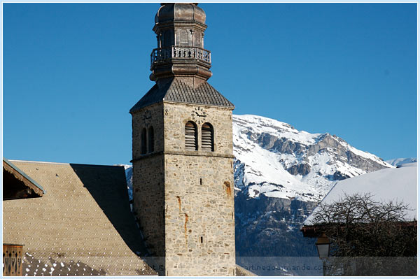 combloux baroque church french alps