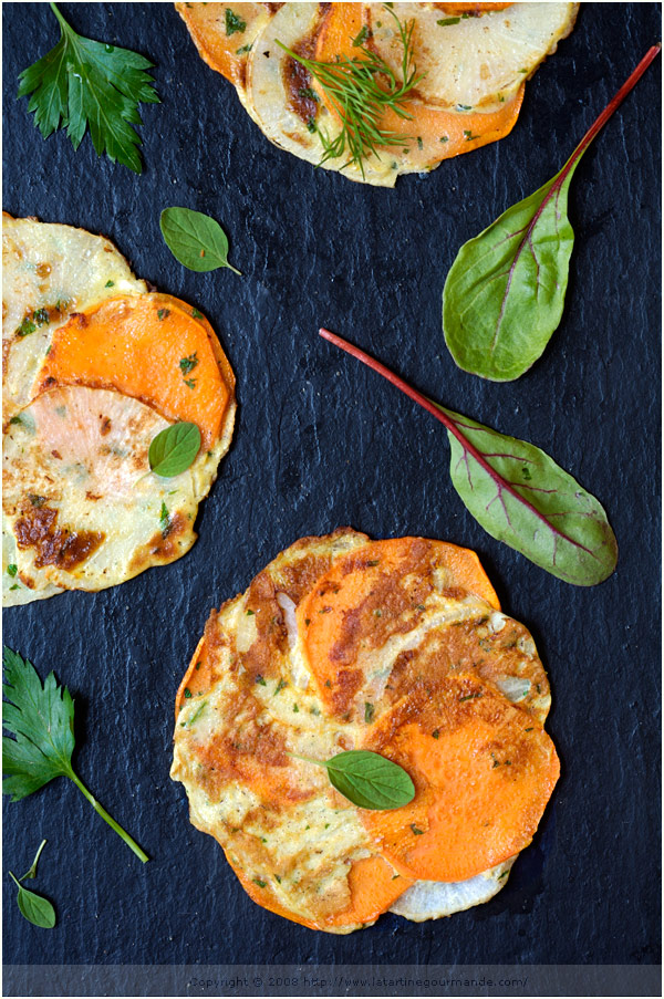 sweet potato turnip galette gluten free