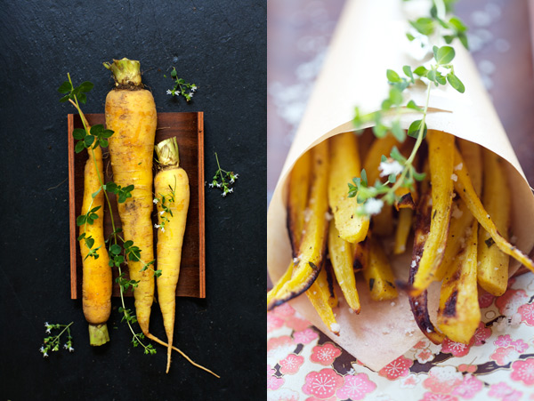 yellow carrots fries
